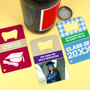 Personalized Graduation Stainless Steel Credit Card Bottle Openers