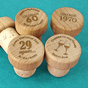 Adult Birthday Personalized Wood Bottle Stopper
