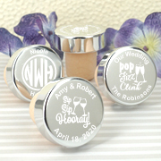 Personalized Silver Aluminum Top Bottle Stopper