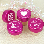 Personalized Pink Aluminum Top Bottle Stopper