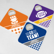 Personalized Bottle Opener Coasters - Sports Themed