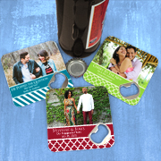 Photo Personalized Bottle Opener Coasters