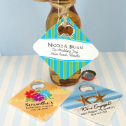 Personalized Bottle Opener Coaster Wedding Favors