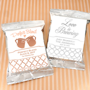Personalized Metallic Foil Coffee Favors (Silver)
