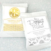 Personalized Metallic Foil Coffee Favors (White)