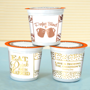 Personalized Metallic Foil K-Cup Coffee Favors