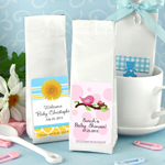 Personalized Baby Shower Gourmet Coffee Favors (Tall Bag)
