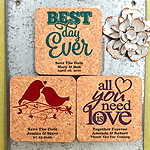 Personalized Square Cork Coaster Magnets