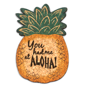 You Had Me At Aloha Pineapple Cork Coaster Wedding Favors (Set of 4)
