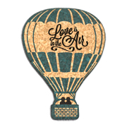 Love Is In The Air Hot Air Balloon Cork Coaster Wedding Favors (Set of 4)