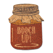 Booch Up! Kombucha Mason Jar Cork Coasters (Set of 4)