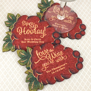 Personalized Wine Grapes Cork Coaster