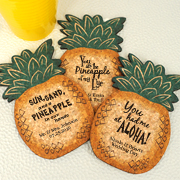 Personalized Pineapple Cork Coaster