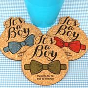 Personalized Baby It's A Boy Cork Coaster