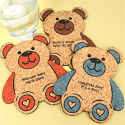 Personalized Baby Bear Cork Coaster