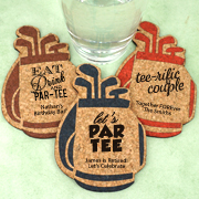 Personalized Golf Bag Cork Coaster