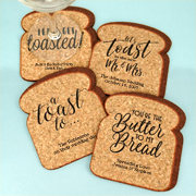 Personalized Toast Shape Cork Coaster