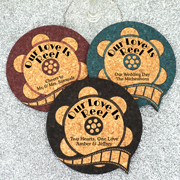 Personalized Film Reel Cork Coaster