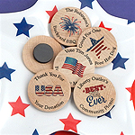 Personalized Patriotic Wooden Magnets