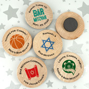 Bar Mitzvah & Bat Mitzvah Personalized Wooden Magnets