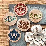 Monogram Wooden Magnets