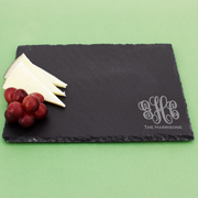 Personalized Monogram Rectangle Slate Serving Tray Cheese Board