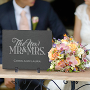 Personalized Head Table Slate Wedding Sign and Keepsake
