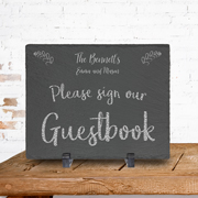 Personalized Slate Wedding Sign and Message Board