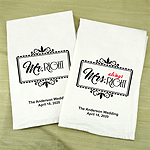 Mr. Right & Mrs. Always Right Personalized Tea Towels (Set of 2)