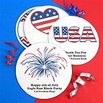 Personalized Patriotic Round Paper Board Coasters