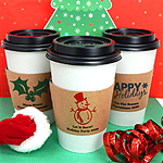 Personalized Holiday Insulated Cup Sleeves