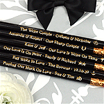 Engraved Personalized Wedding Pencils - Black (Set of 12)