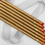 Engraved Personalized Wedding Pencils - Gold (Set of 12)