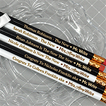 Mr. & Mrs. Write Engraved Wedding Pencils (Set of 2)