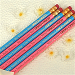 Pink or Blue Engraved Baby Shower Pencils (Set of 2)