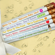 Personalized Baby Shower Pencils - White (Set of 12)