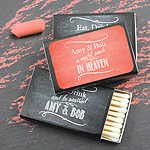 Personalized Matchboxes - Silhouette Collection - Set of 50 (Black Box)