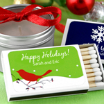 Personalized Holiday Matchboxes - Set of 50 (White Box)