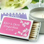 Personalized Matchboxes - Silhouette Collection - Set of 50 (White Box)