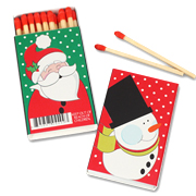 Christmas Holiday Matches - Set of 50 Matchboxes