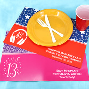 Bar Mitzvah & Bat Mitzvah Personalized Placemats