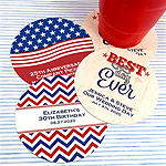 Personalized Patriotic Paper Coasters