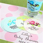 Personalized Paper Baby Shower Coasters