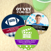 Bar Mitzvah & Bat Mitzvah Personalized Paper Coasters
