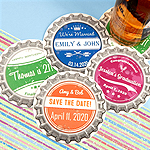Vintage Bottle Cap Personalized Paper Coasters
