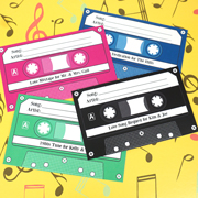 Vintage Cassette Tape Personalized Song Request Cards