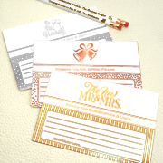 Personalized Metallic Foil Advice Cards (Set of 25)