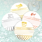 Personalized Metallic Foil Advice Coasters