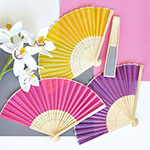 Colored Silk Fans