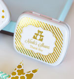 Personalized Metallic Foil Mint Tins - Baby